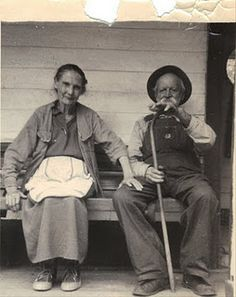 "Angeline ""Pemmie"" (Hall) Johnson & husband Caleb B. ""K"" Johnson.   Knott County, Kentucky, USA."