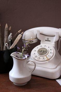 white phone vignette