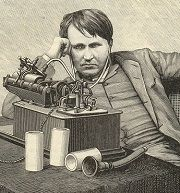 """""""I have not failed. I've just found 10000 ways that won't work."""" Thomas A. Edison. Illustration 1889 (Source: Wikimedia Commons)"""