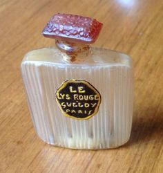 Le Lys Rouge Antique Perfume Bottle By Julian Viard For Gueldy 1918