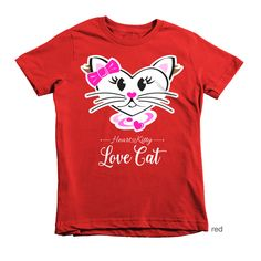 HeartKitty Love Cat T-shirt (youth) via Hey Sugar! Designs. Click on the image to see more!