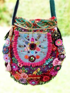 Tropfentasche im Bohostyle Schnitt Farbenmix Taschenspieler II