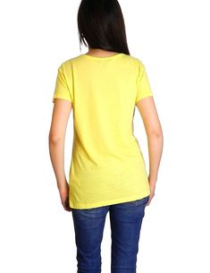 0321338f Tommy Hilfiger Womens Lemon Yellow Tee Size S ** See this great product. (