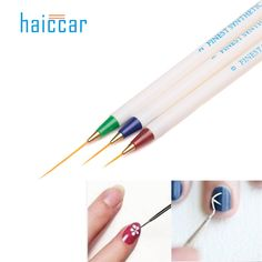 HAICAR 3pcs/Set Professional Nail Art Fashion Design DIY Nail Art Brush Set Dotting Painting Drawing Brush Pen Tools Pretty  #Affiliate