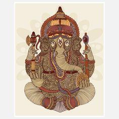 Fab.com   Ganesh Print 11x14