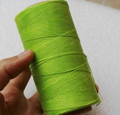 WellieSTR 1 Spool 284yrd Ligth Green S062 Leather Craft Sewing Waxed Thread Heavy Duty Waxed Thread Sewing Waxed Coarse Whipping Thread 1mm Leather Hand Stitching 125g * You can get additional details at the image link.