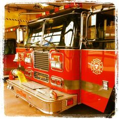 Utica #firetruck fire department truck shiny red engine wheels #firefighter