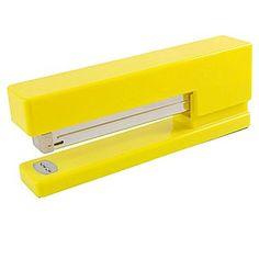JAM Paper® Modern Desk Stapler, Yellow, Sold Individually (337YE)