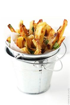 Garlic Parmesan Oven Fries Recipe