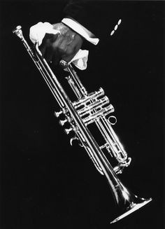 Louis Armstrong, trumpet and handkerchief - Herb Snitzer