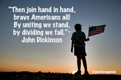 Then join hand in hand, brave Americans all... #July4