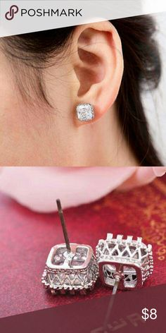 Austrian Crystal Earrings New Austrian crystal silver .925 earrings. Jewelry Earrings