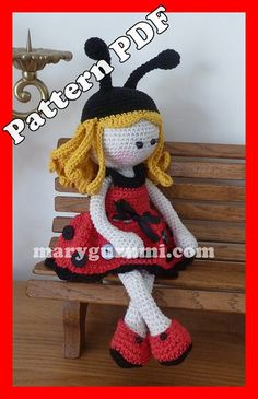 Pattern pattern tutorial crochet Bénédicte Doll by Marygurumi