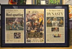 Pat's winning seasons newspaper articles.