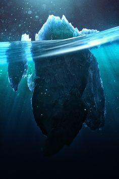 Caustic Icebergs by Chaotic Atmospheres