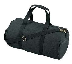 Black Canvas Shoulder Bag, Duffle: This stylish shoulder bag is made of heavy weight cotton canvas. The bag features an adjustable shoulder strap, a zipper end pockets, and twin carry on handles. This bag measures by Canvas Duffle Bag, Duffel Bags, Diy Duffle Bag, Mens Gym Bag, Messenger Bag Patterns, Work Bags, Gym Bags, Canvas Shoulder Bag, Cotton Bag
