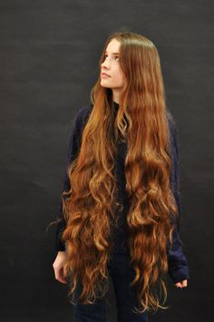 Her hair looks sooooo heavy. Long Red Hair, Very Long Hair, Long Hair Cuts, Long Curly, Brown Hair, Long Silky Hair, Straight Hair, Black Hair, Beautiful Long Hair