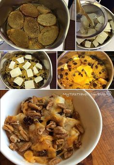 Dessert: Capirotada a type of bread pudding served on Good Friday