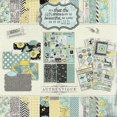 http://www.scrapbookersparadise.com coming in Feb AUTHENTIQUE PAPER: Announcing: Renew