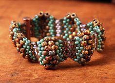 Picasso beadwoven bracelet