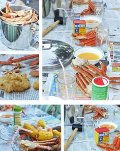 Seafood boil-- now this is what I'm talking about friends, food and seafood!! ❤