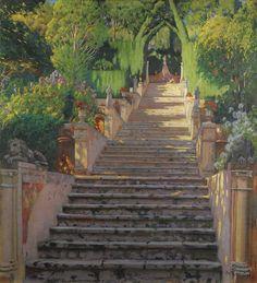 The Old Stairs, Raixa - Santiago Rusinol