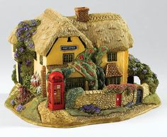 Lilliput Lane Stay In Touch 2016 Anniversary Cottage Devon Ornament 8cm L3773 UK