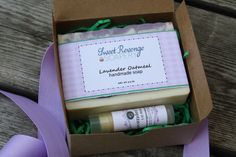 Soap and Lip Balm Set  Soap Gift Set  by sweetrevengesoapery, $12.00