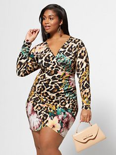 4b8e145be0 Shop Jaelyn Floral Animal Print Dress. Find your perfect size online at the  best price