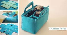 Find joy in stitching this camera carrier!