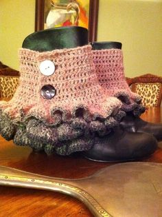 Crochet spats, I want to figure out how to make these for izzy for wedding. But in different colors!