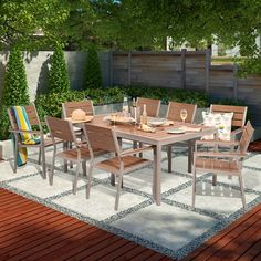 Threshold™ Bryant 6 Person Faux Wood Patio Dining Set w/ 2 Additional Side Chairs