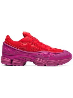 498c9803c584 ADIDAS BY RAF SIMONS ADIDAS BY RAF SIMONS RED AND PINK OZWEEGO LEATHER  SNEAKERS.  adidasbyrafsimons  shoes