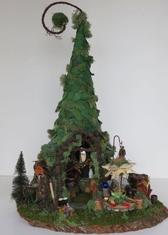 Fairy House- Fairy Gardener Woodland by WoodlandFairyVillage,