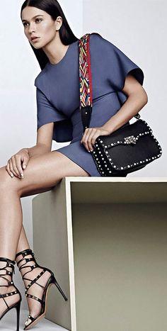 Valenitno dress and handbag from Resort 2016 Collection