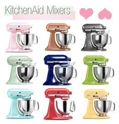 """KitchenAid"" by southernpearldesigns ❤ liked on Polyvore featuring interior, interiors, interior design, home, home decor, interior decorating, KitchenAid and kitchen"