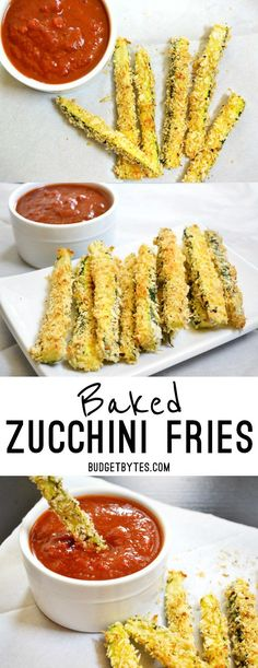 Zucchini Fries - Step by Step Photos - Budget Bytes These baked zucchini fries have a buttery flavor and are a fun way to get your vegetables. These baked zucchini fries have a buttery flavor and are a fun way to get your vegetables. Spicy Recipes, Pork Recipes, Lunch Recipes, Baby Food Recipes, Slow Cooker Recipes, Appetizer Recipes, Italian Recipes, Mexican Food Recipes, Breakfast Recipes