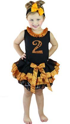 Petitebella Bling Turkey White L//s Shirt Dots Black Orange Petal Skirt Nb-8y