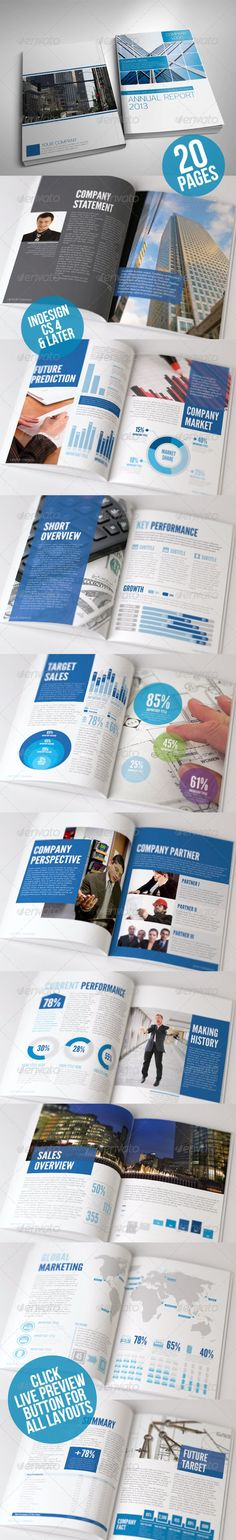 Annual Report Clean Indesign Brochure Annual reports and Brochures - company annual report sample