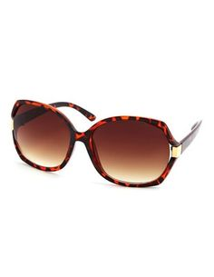 Tortoise Shell Square Shades: Charlotte Russe at Tempe Marketplace.
