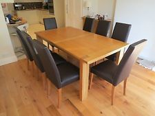 Marks & Spencer Sonoma Dark Oak Dining Table & 6 Chairs  Timber Magnificent Marks And Spencer Dining Room Furniture Inspiration Design