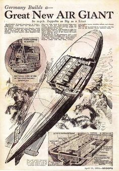 Steampunk Airship, Dieselpunk, Old Planes, Alternate History, Vintage Airplanes, Popular Mechanics, Retro Futurism, Led Zeppelin, Vintage Posters