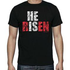 He is Risen   Christian T-Shirt   Free U.S. Shipping
