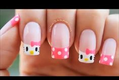 Hello Kitty & Cat Paw Prints Toe Nail Art Design , Have you even seen hello Kitty nail styles before? the lovable hello Kitty ought to be the foremost common cat within. Toe Nail Art, Nail Art Diy, Hello Kitty Nails, Crazy Nail Art, Nails For Kids, Cat Nails, Best Acrylic Nails, Cute Nail Designs, Manicure And Pedicure