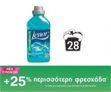 Μαλακτικό Lenor  Ocean Escape 28 μεζούρες Fiji Water Bottle, Drinks, Drinking, Beverages, Drink, Beverage