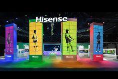 Vidaa Las Vegas—CES show exhibit for Hisense USA; 120x80; Details.