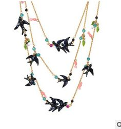 Find More Pendant Necklaces Information about Fashion jewelry the latest Swallow family  Multilayer crystal flower necklace women,High Quality flower necklace designer,China necklace diy Suppliers, Cheap necklace medal from Mak fashion jewelry store on Aliexpress.com