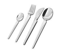 Casablanca-aterimet Lahjapakkaus. Sisältö: 6 kpl kahvilusikka, 6 kpl ruokalusikka, 6 kpl ruokahaarukka, 6 kpl ruokaveitsi.