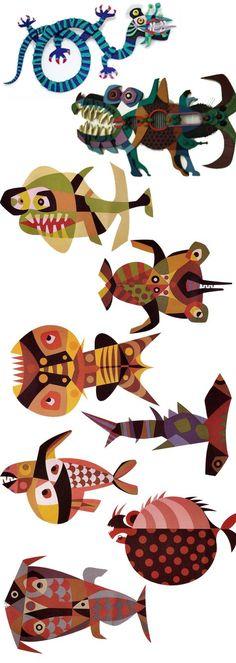 Cesar Manrique -Pintures de peixos