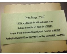 Bridal Shower Lottery Ticket Wishing Well   Our Original ...